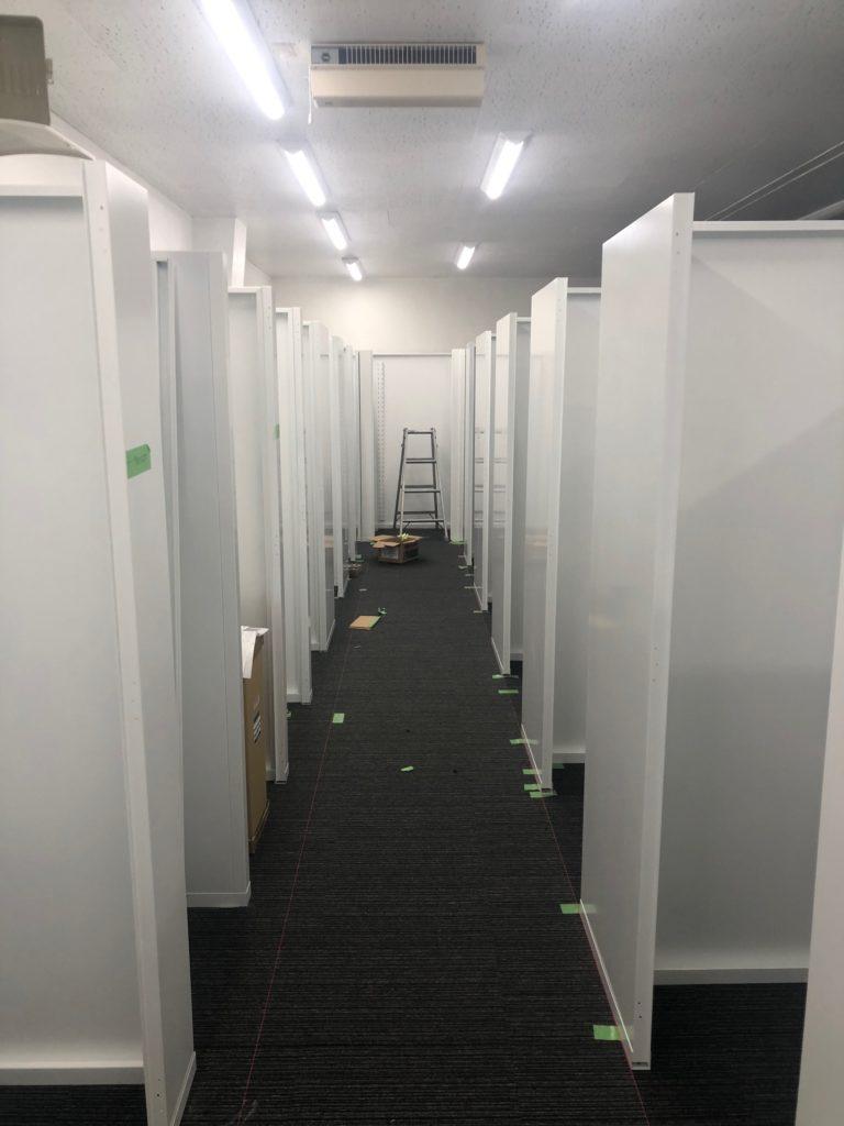 神奈川県内トランクルーム組立一式工事